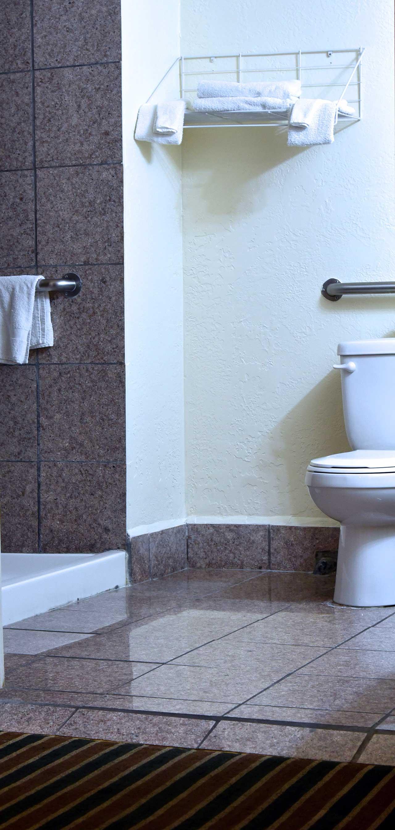 Monterey Pines Inn ADA Bathroom Shower