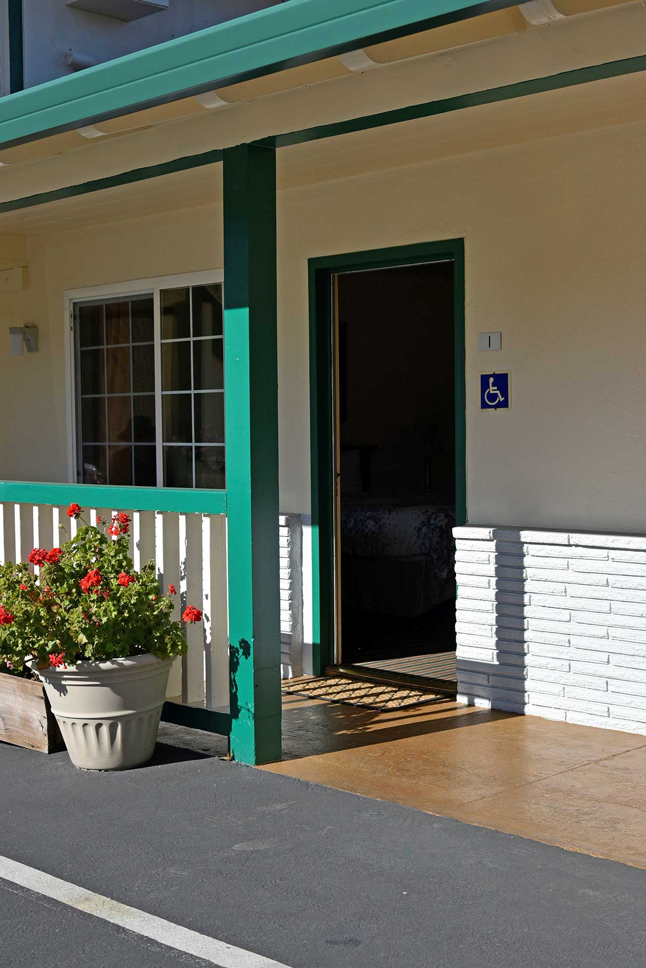 Monterey Pines Inn ADA Entrance